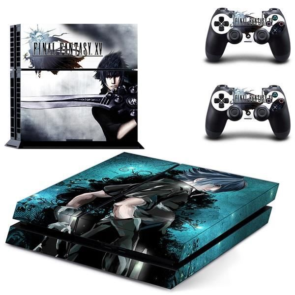 Anime Final Fantasy XV Skin Sticker Decal Autocollant de Vinyle Pour Sony PS4 Console 2 Contrôleurs