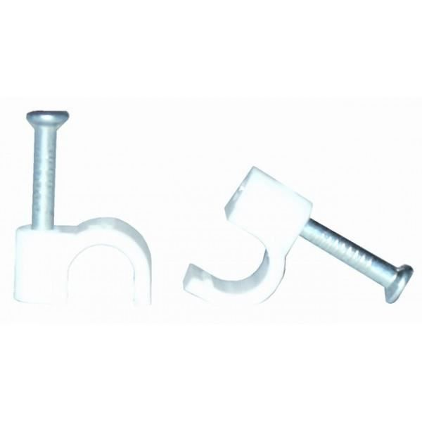 VOLTMAN Lot de 100 attaches câble professionnelles - Diamètre : 5 mm² - Blanc