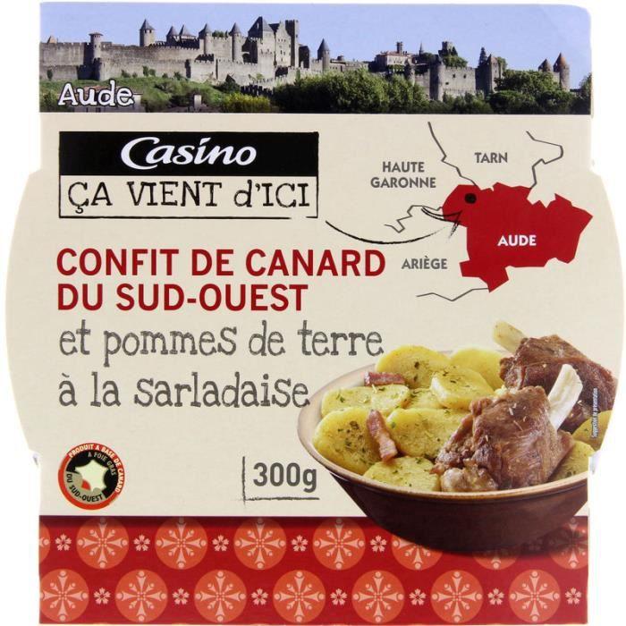 Confit de canard du Sud-Ouest et pommes de terre à la sarladaise - 300g