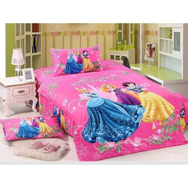 parure de lit enfant disney princess 100 coton achat. Black Bedroom Furniture Sets. Home Design Ideas