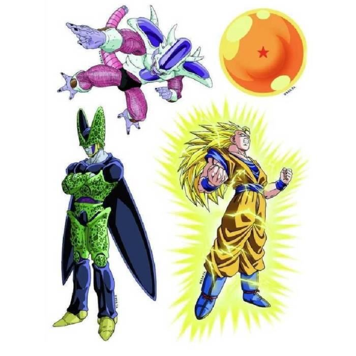 Stickers dragonball z pour vitre x 4 achat vente for Decoration murale dragon ball z