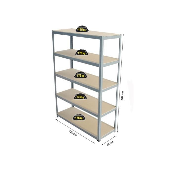 etagere charge lourde 120 cm achat vente etabli meuble atelier cdiscount. Black Bedroom Furniture Sets. Home Design Ideas