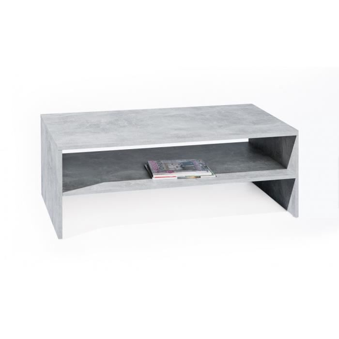 Marry b ton table basse rectangulaire achat vente - Table imitation beton ...