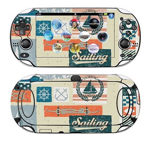 skin stickers pour sony ps vita sticker nautical. Black Bedroom Furniture Sets. Home Design Ideas
