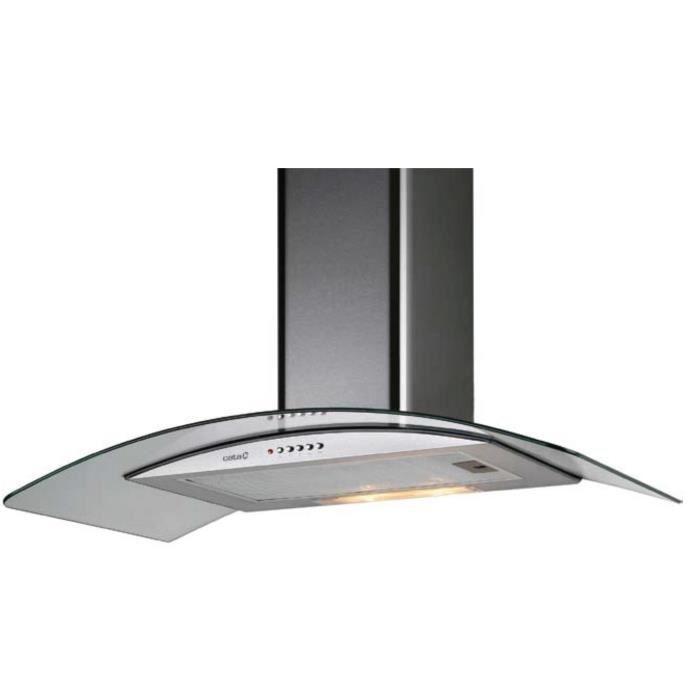 CATA S-700 420 m/³//h Mont/é au mur Acier inoxydable s 420 m/³//h, 63 dB, Mont/é au mur, Acier inoxydable, 40 W, 2 ampoule Hottes