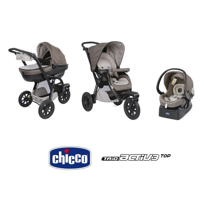 CHICCO Poussette combinée 3 en 1 TRIO Activ3 Top dove grey