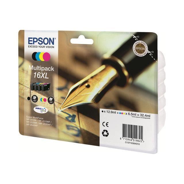 CARTOUCHE IMPRIMANTE EPSON Cartouche 16XL - Noir et tricolore - 32.4ml