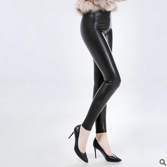 PANTALON Pantalon en cuir femme