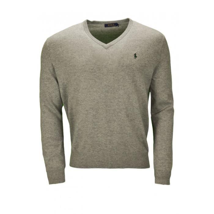 Pull col V Ralph Lauren en laine pour homme