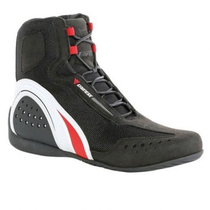Chaussures moto Dainese MOTORSHOE AIR SHOES JB (45 - BLACK/WHITE/RED)