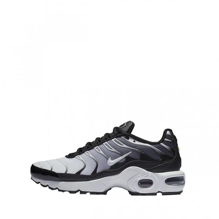 Basket Nike Air Max Plus Junior - Ref. 655020-077 Noir Noir - Achat ... 73b8eecffa45