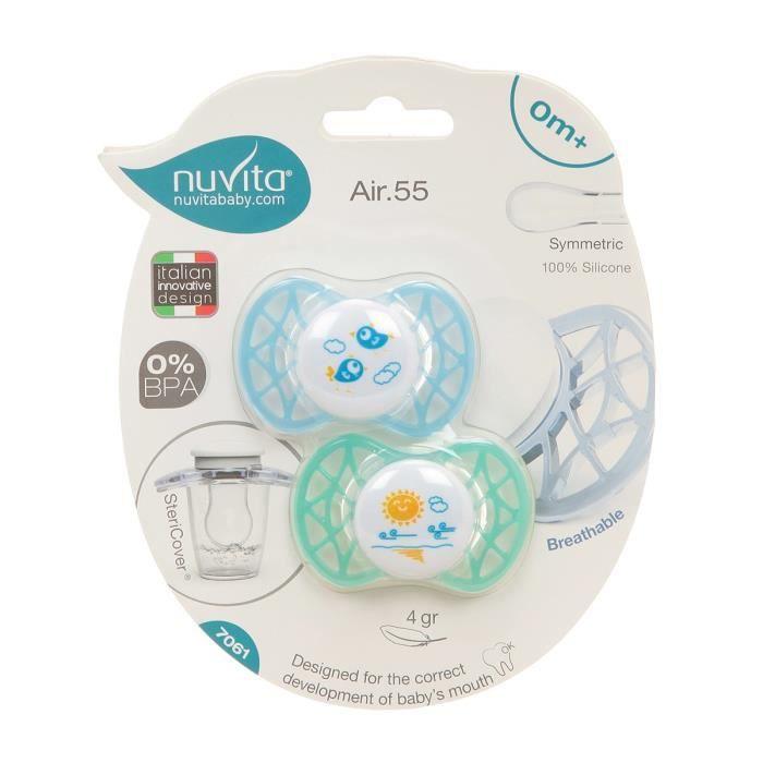 SUCETTE NUVITA Air.55 Sucette bébé symmétrique - 0 mois -