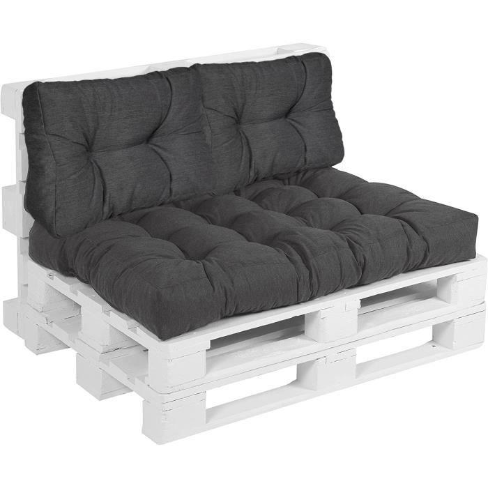 Beo LKR 60 x 40 AU91 Lounge Coussin de dossier,Noir,60 x 40 cm Épaisseur 20
