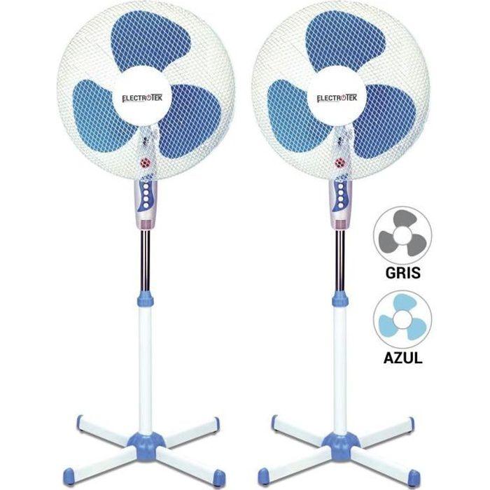 VENTILATEUR Pack de 2 Ventilateurs sur pied - 40 cm de diamètr