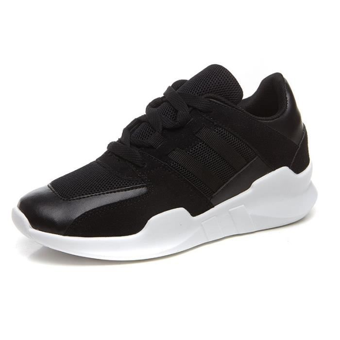 Basket BJ-MX109-40-Black Noir 9 féminin Sports étudiants Casual lacent Respirant Mesh