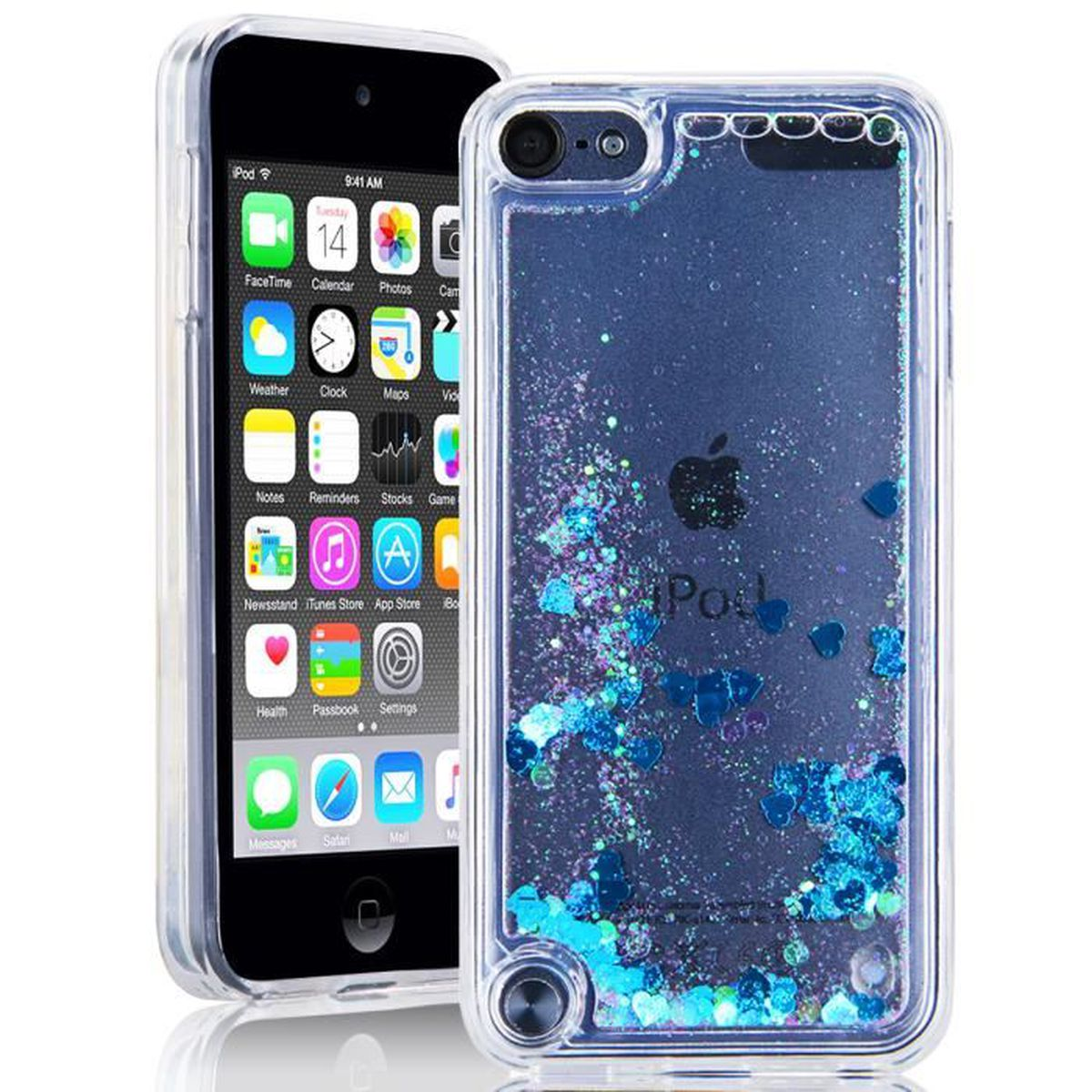 coque ipod touch 5 6 silicone bleu amour quicksands housse. Black Bedroom Furniture Sets. Home Design Ideas