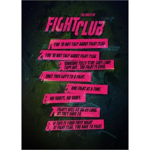 AFFICHE - POSTER Fight Club Rules - Nikita Abakumov