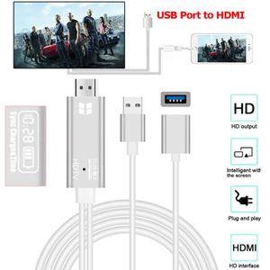 CÂBLE TV - VIDÉO - SON USB vers HDMI HD AV TV Temps de charge Affichage c