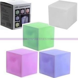 lampe cube lumineux achat vente lampe cube lumineux. Black Bedroom Furniture Sets. Home Design Ideas