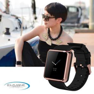 MONTRE CONNECTÉE montre Smart Watch F1 dorée étanche pour téléphone