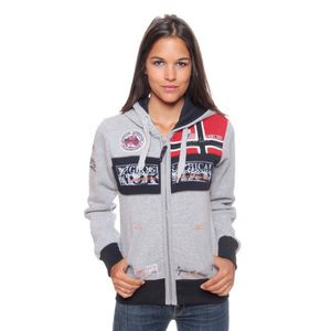 SWEATSHIRT Sweat Femme Geographical Norway Flyer Gris Clair