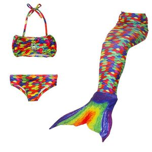 MAILLOT DE NATATION SHLK@3pcs/set The Mermaid Deguisement Queue de Sir