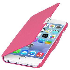 COQUE - BUMPER Coque iPhone 6 Rose Rabat Magnétique