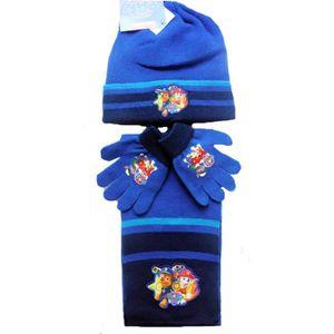 BONNET - CAGOULE Pack bonnet, gants, écharpe bleu PAT PATROUILLE