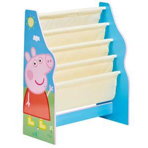 PETIT RANGEMENT  PEPPA PIG - Bibliothèque à pochettes pour enfants