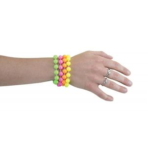 Lot 10 Perles Fluo Création Fabrication Bijoux Fantaisie Silicone flashy