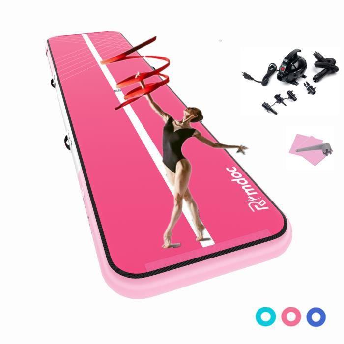 6M Airtrack Tapis de gymnastique gonflable PISTE D'ACROBATIE Tapis de yoga épaississant Tapis de protection pour le sport