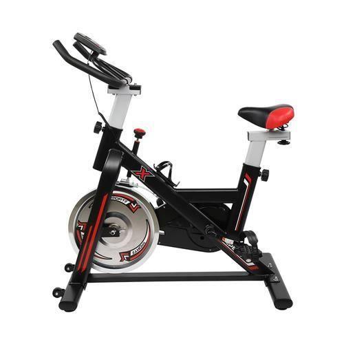 Vélo d'appartement,avec Selle et Poignée Réglable,vélo d'intérieur,noir,105 * 50 * (108-118) cm