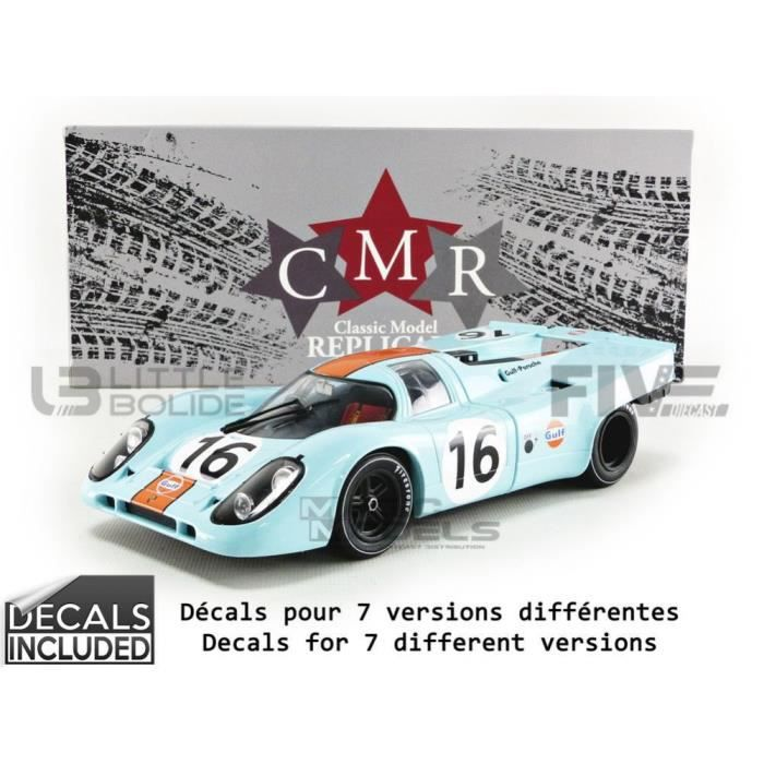 Voiture Miniature de Collection - CMR 1/18 - PORSCHE 917 K Gulf - Winner 1000km Zeltweg 1971 - Blue / Orange - CMR146_16