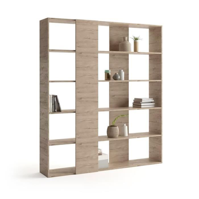 Mobili Fiver, Bibliothèque, Rachele, en mélaminé, Chêne, Mélaminé, Made in Italy