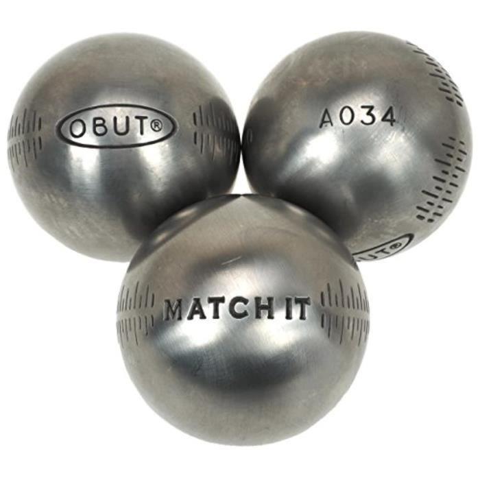 Kit Badminton ZS458 Match it boules de pétanque Deco g 76 mm en acier inoxydable