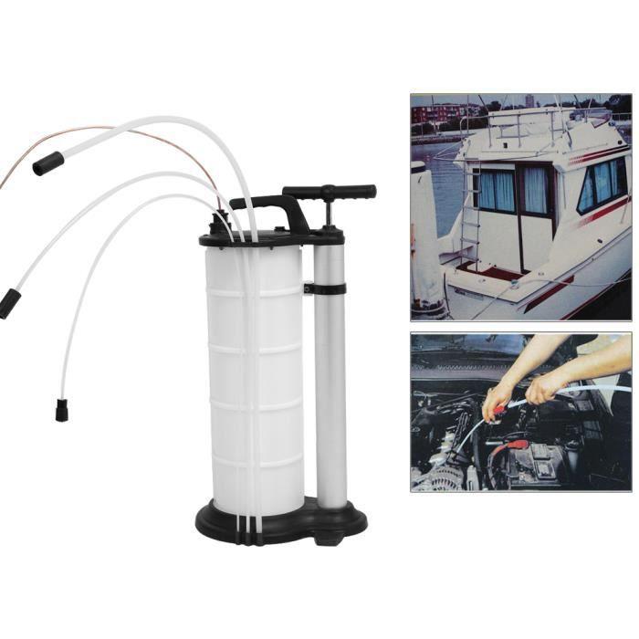 Pompe à Aspiration Extraction Vidange Vide d'Huile Main Manuelle pour Moteur Voiture Moto 9L HB047 -LAO1