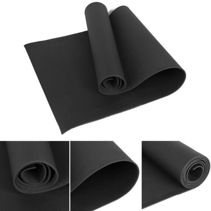 Tapis de sol Tapis de sport Tapis de gymnastique Tapis de yoga en Mousse 173 * 60 * 0.4cm Noir, EVA Tapis de fitness antidérapant