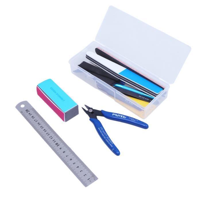 1 ensemble d'outils de modèle assortis d'artisanat d'émeri pour modèles de jouets réparant la COUPE-ONGLES - PINCE A ONGLES