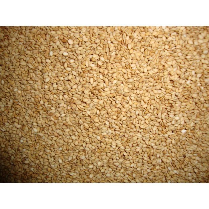 Graines de sésame grillées 2kg - Sésame grillé - 100% naturel - Riche en vitamines et minéraux - Sans OGM - Riche en fibres -
