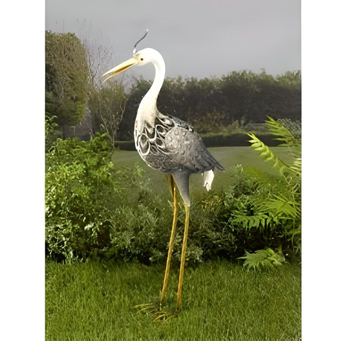 Heron solaire metal lumineux
