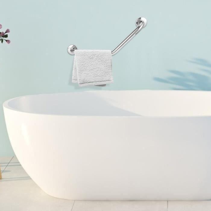 Barre d 'appui de sécurité pour toilettes de salle de bains en acier inoxydable à trois plis Mains courantes de baignoire