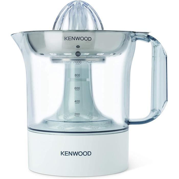 Kenwood Presse Agrumes Électrique JE290, Appareil à Jus, Capacité 1L, Blanc
