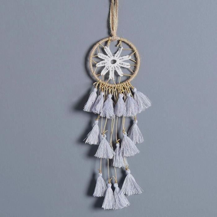 CARILLON A VENT - CARILLON EOLIEN,MIAMOR Mini capteur de rêves multicolore fait à la main - Type Silver Grey