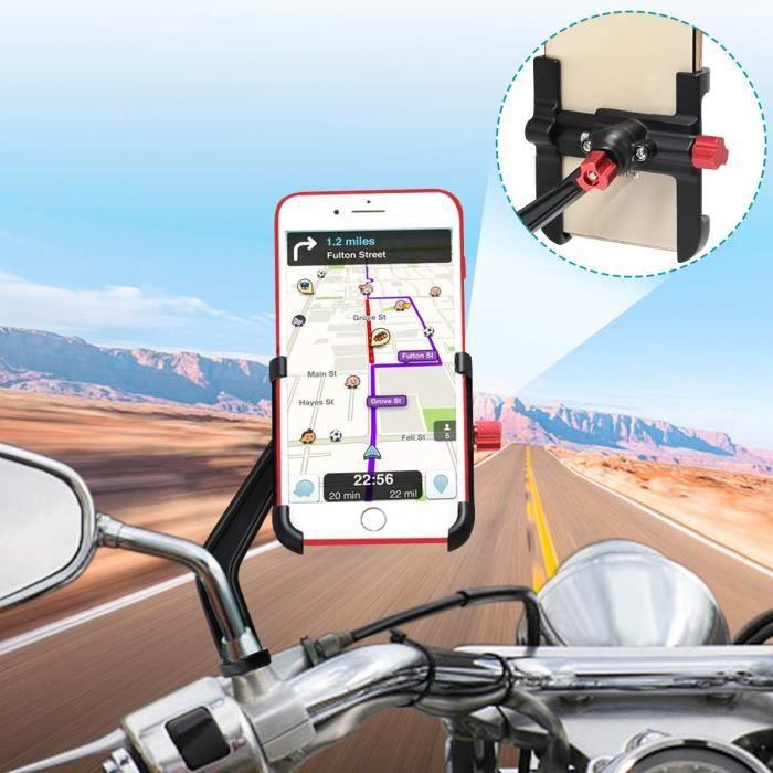 BTNEEU Support Telephone Moto Aluminium, 360°Rotatable Support Smartphone Moto Support Telephone Scooter, Universel Support Télép