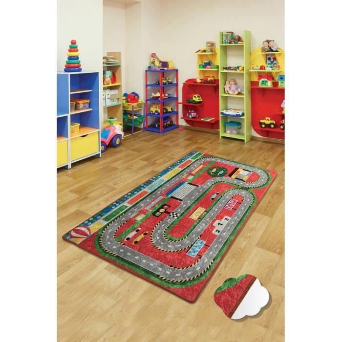 Nerge.be - Station - 100x160 cm - Stations pour enfants Tapis de jeu Formule 1 Feuille de route Voitures jouets Chambre