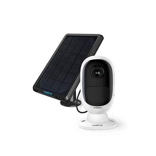Reolink Argus 2 avec Panneau Solaire HD 1080P WiFi Caméra Surveillance sur Batterie Rechargeable Caméra Solaire Caméra IP