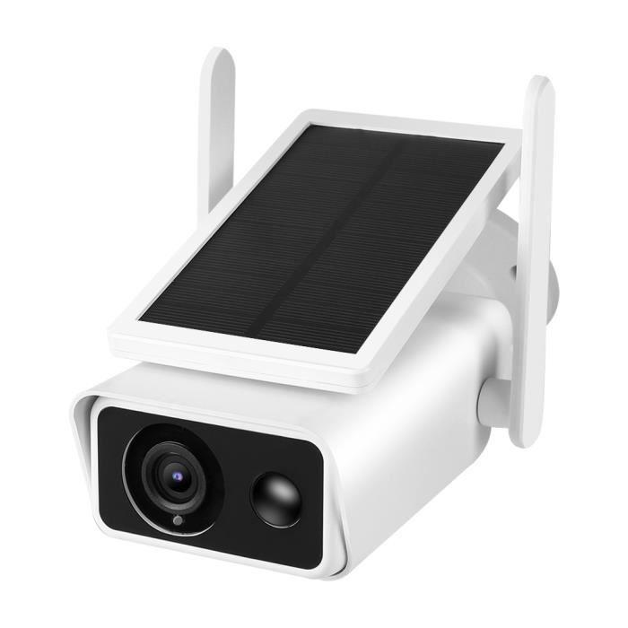 YOSOO Caméra de surveillance 1080P HD WiFi Bullet Camera Panneau solaire extérieur étanche PIR Intercom Security CCTV