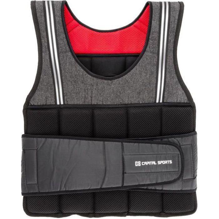 CAPITAL SPORTS Vestpro 10 Gilet lesté pour exercices de musculation & fitness - Veste avec sangles en nylon (10kg , 23 poids)