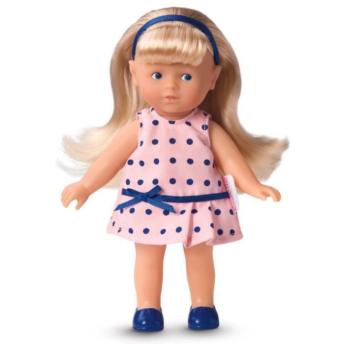 COROLLE Poupée Mini Corolline Blonde, Robe à Pois Bleus 20 cm