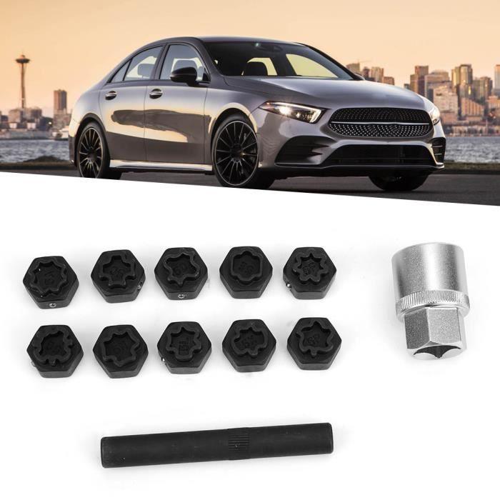 12 pièces antivol verrouillage écrou de roue ensemble de douilles installateur de dissolvant adapté pour Benz classe -RAI